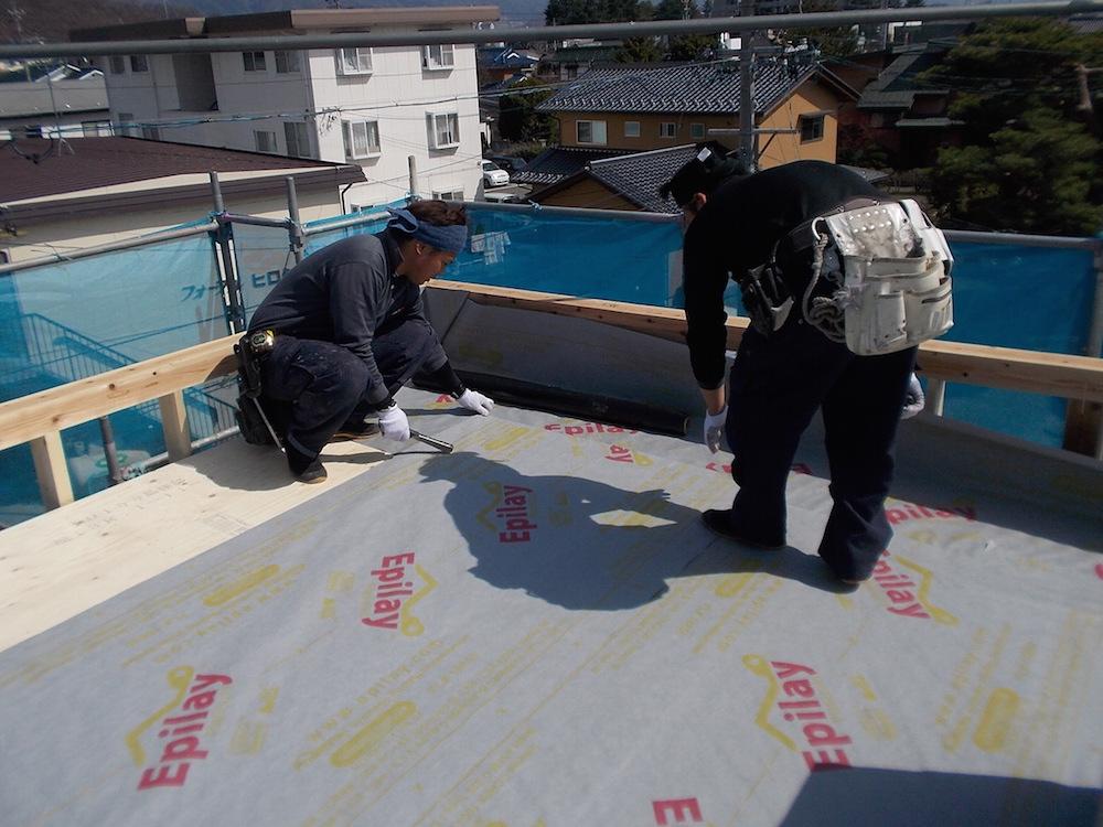 松本市島内にて屋根施工を行いました1:Tr様邸