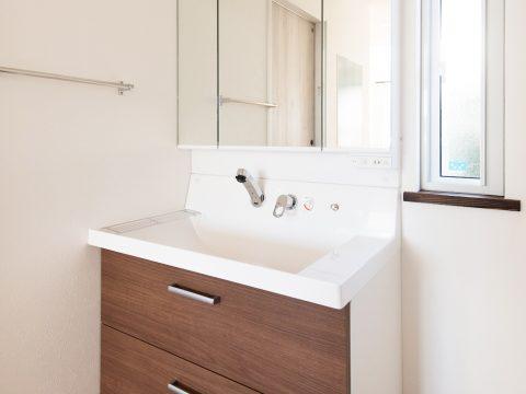 ドイツ漆喰のお家 洗面化粧台