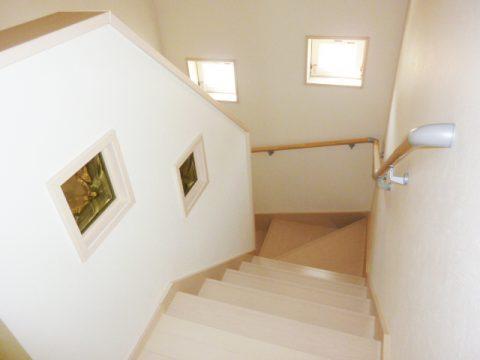 モクハウス塗り壁の家I様邸 階段